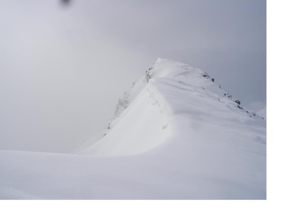 La crestina nevosa..anticamera alla vetta..