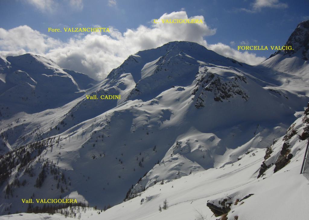 Valcigolera (Cima) Traversata Rolle - Fratazza dal Passo Colbricon 2013-02-23