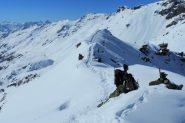 la vetta del Monte Facciabella (2-3-2013)
