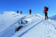 salendo verso l'anticima del Monte Facciabella (2-3-2013)