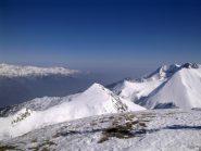 panorama dalla cima del Giassez, verso la valle Argentera