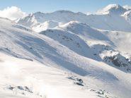 Neve spazzata dal vento sul versante Nord, quota 2358 m