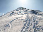 La cresta dove passa il sentiero vista al ritorno