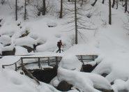 parecchia neve nel vallone