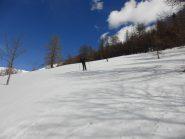 Nel pratone finale neve primaverile