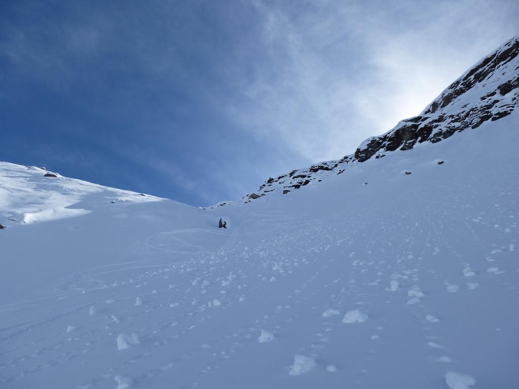 Neve spettacolo nel canale diretto