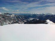 panorama dalla cima in valle