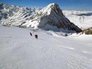 l'hubschhorn visto dal ghiacciaio