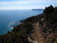 Sul sentiero dell'Onda verso Capo Mele