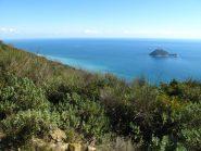 Sul sentiero dell'Onda l'Isola Gallinara