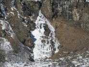 La cascata del Roc ghiacciata
