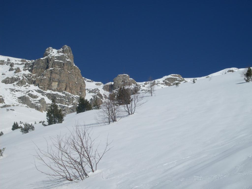 Pian Ballaur (Punta) da Carnino Superiore per il canale Sud 2013-03-21