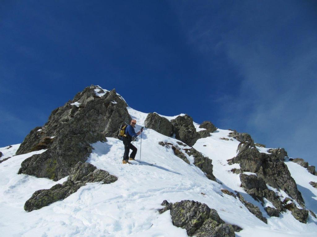 luca vuole arrivare in punta con gli sci