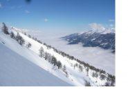 Salendo alla P.Casses Blanches con la Val Susa in un mare di nuvole..