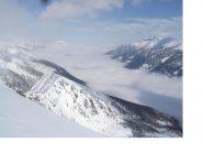 In primo piano la P.Chabriere..la Val Susa qui da quota 2762m,sembra un ghiacciaio..