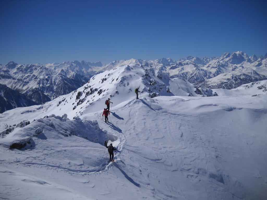 Gimont (Mont) da Claviere per il Colletto Verde 2013-03-27
