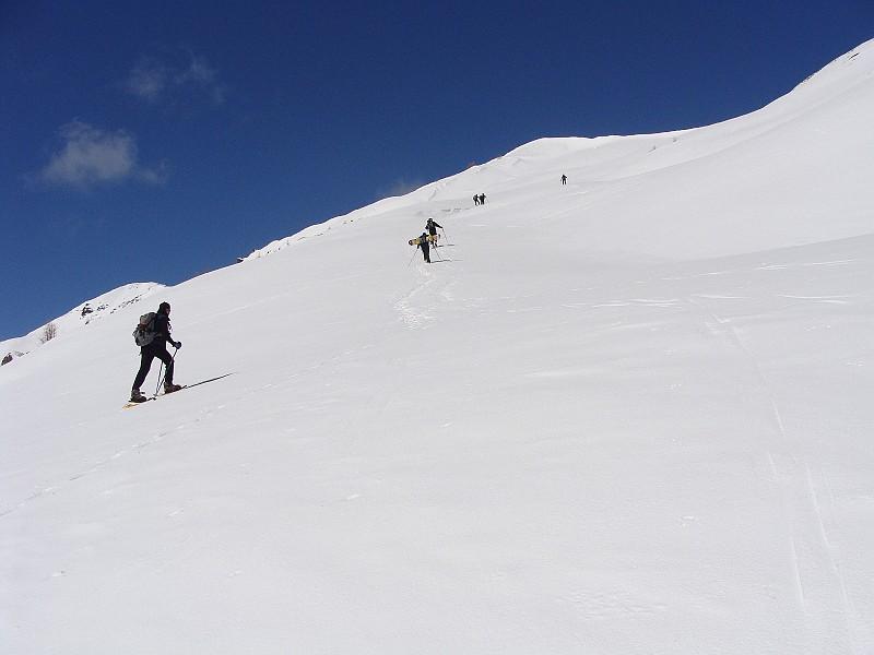 sui pendii sopra l'alpe bruns