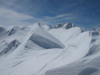 La cresta verso il Fourchon