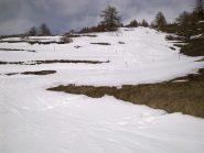 lingua di neve alla partenza