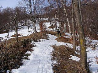 il breve tratto senza neve