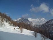 Alpe Vaira - alle spalle il Seehorn e il Monte Leone-