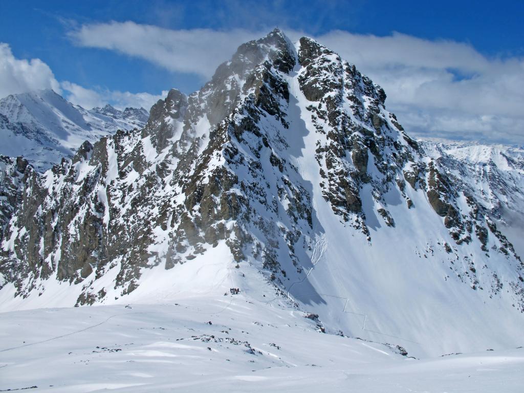 Granero (Monte) da Pian della Regina per il P.so Luisas e canale E 2013-04-07