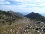 Il crinale verso il Monte Pesalto