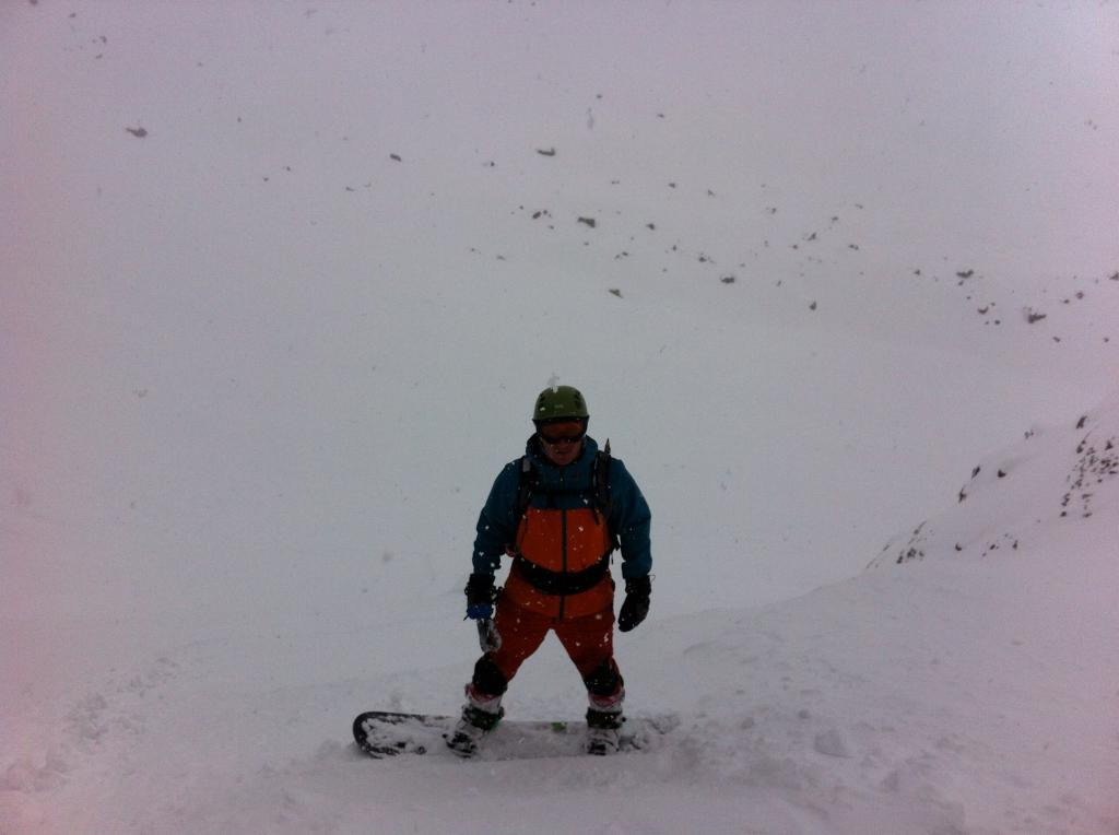 Scendendo sotto la neve