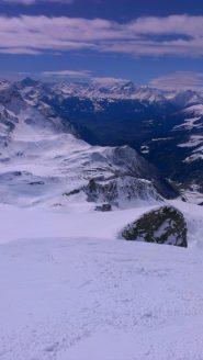 Dalla cima, vista verso Glassier,lontano lontano...
