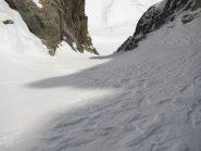 Il canale che accede al ghiaccio superiore