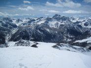 a Sn vallone di Unerzio e a Dx monte Oronaye