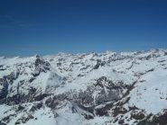 Si vedono Anche il Monte Bianco e il Grand Combain