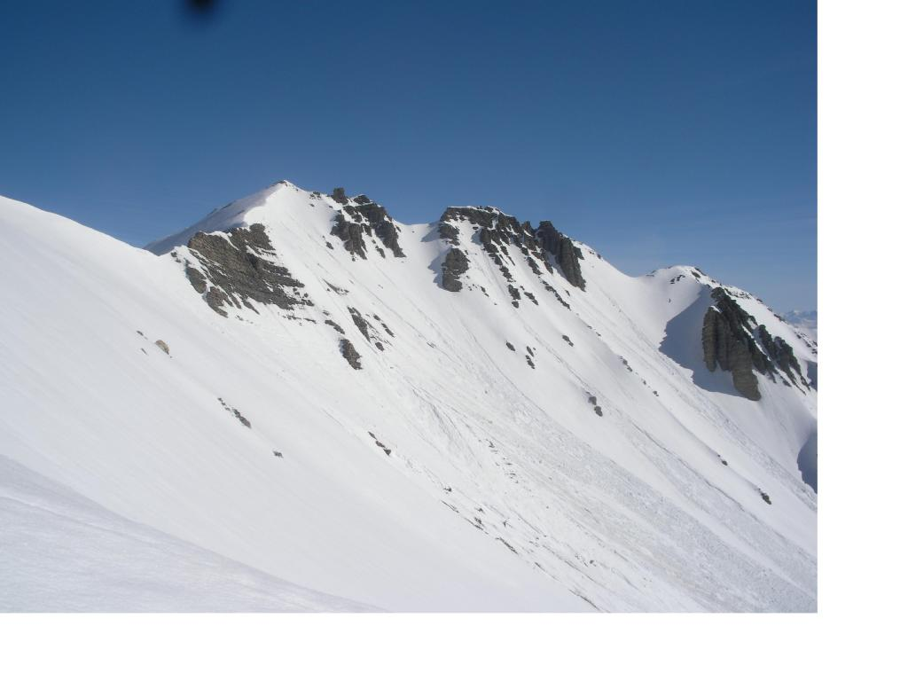 La Tete de Soleil Boeuf dalla spalla q.2677m