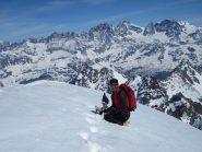 vetta del Cassandra con il gruppo del Bernina sullo sfondo