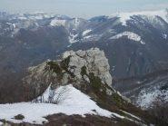 croce sotto la cima del Merdenzone