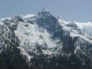 Bec delle Strie dai rilievi che sovrastano l'alpe