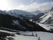 la partenza su lingue di neve