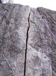 una fessura che ha spostato una galleria