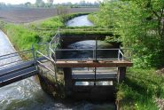 La Roggia Camera e la sua presa sul Rotto visti dal Ponte Incastro