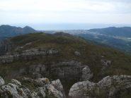 Dal Peso Grande verso il Monte Nero e la piana di Albenga