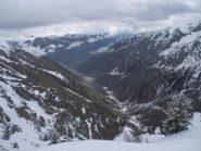 Dalla Punta Vallone del Binec, vista sul basso Vallone di S.Anna