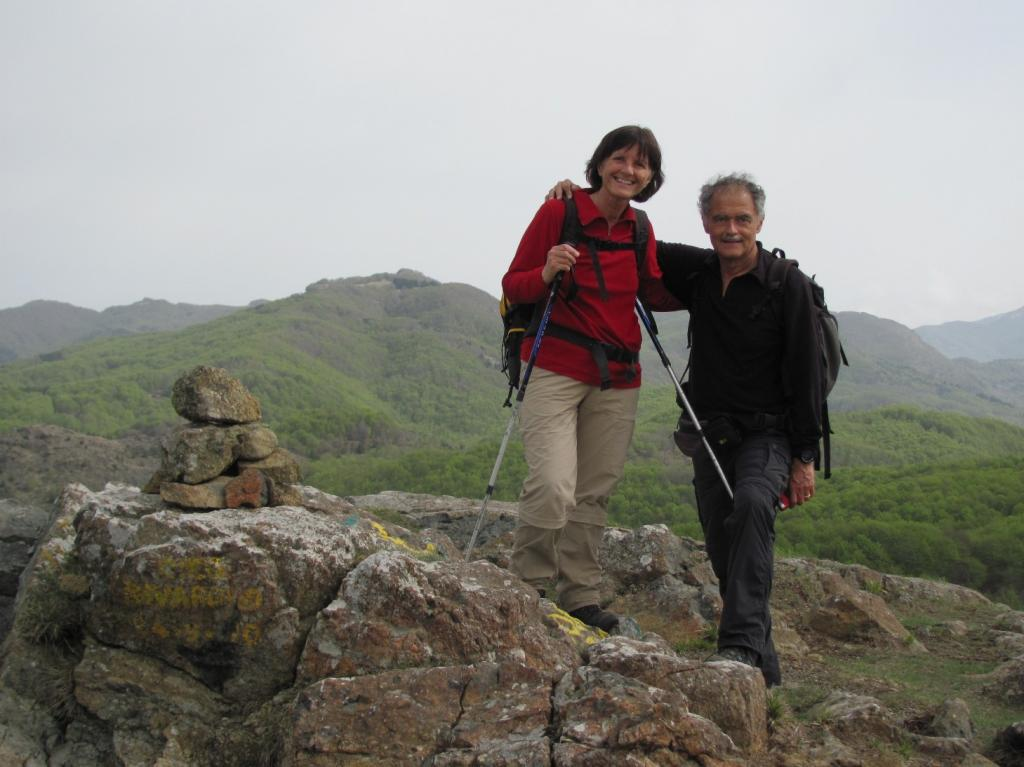 In vetta al Monte Roccabruna