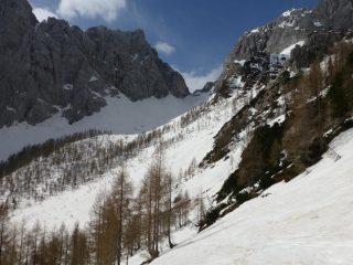 Colle Bohinjska vracta, al fondo della valle di Krma