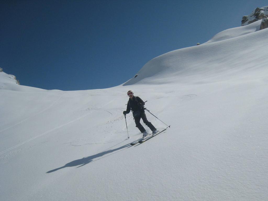 in alto la neve era così...