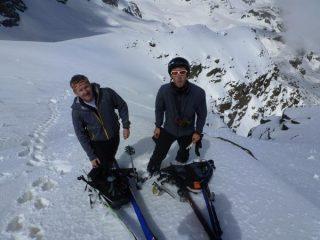 si rimettono gli sci per l'ultimo tratto