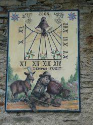 Spettacolare meridiana a Chezalet