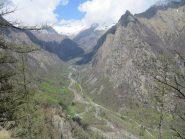 Panorama sulla Valle di Forzo dal Monte di German