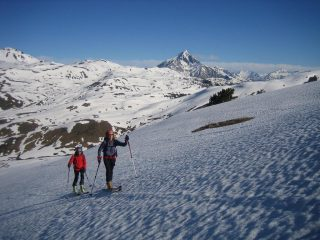 sullo sfondo il Monte Chaberton