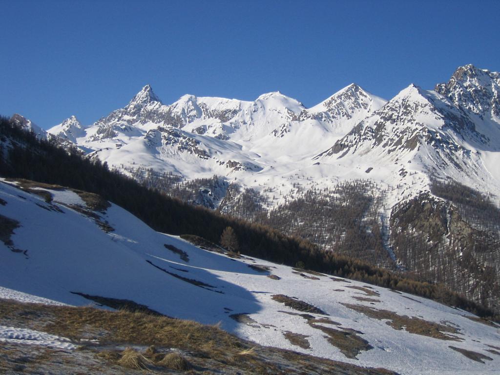 sullo sfondo il Pic de Rochebrune
