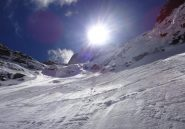 il sole splende freddo sul secondo nevaio